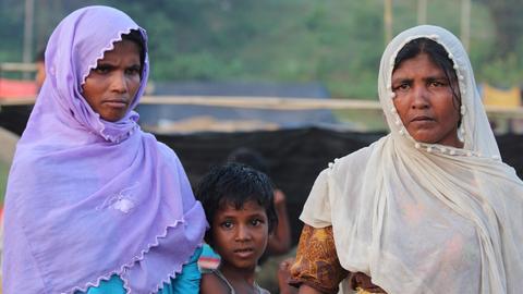 Hasina und ihr Sohn