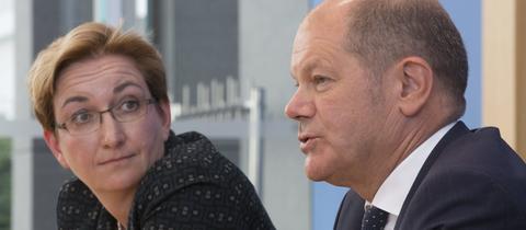 Olaf Scholz und Klara Geywitz