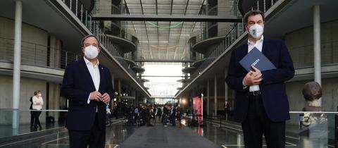 Wer wird Unions-Kanzlerkandidat: Söder oder Laschet?