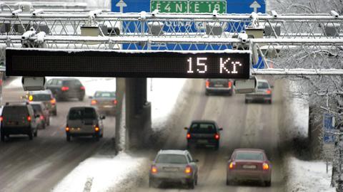 Kontrollpunkt der City-Maut in Stockholm