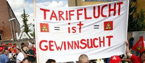 IG Metall-Demonstration gegen Tarifflucht