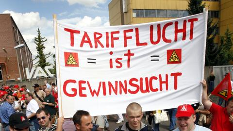 IG Metall-Demonstration gegen Tarifflucht
