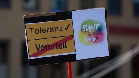 Plakat mit der Aufschrift Toleranz