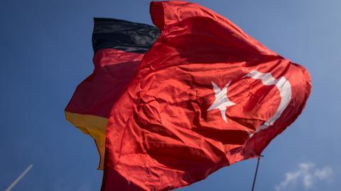 Türkei Deutschland Flaggen