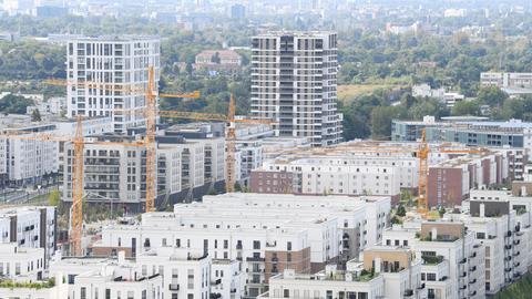 Neue Wohnungen im Europaviertel in Frankfurt