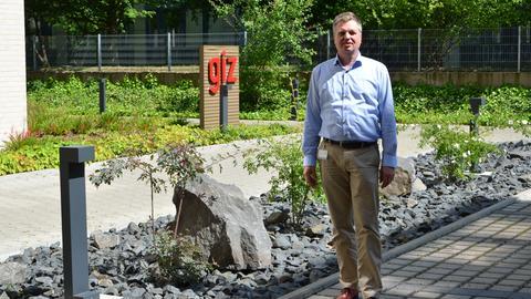 GIZ-Mitarbeiter Gerd Fleischer