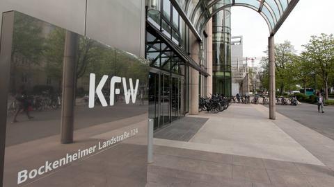 Die KfW Bank in Frankfurt Bockenheim