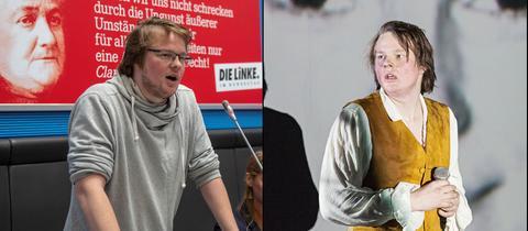 Michel Brandt auf zwei Bühnen: Als Politiker und als Schauspieler