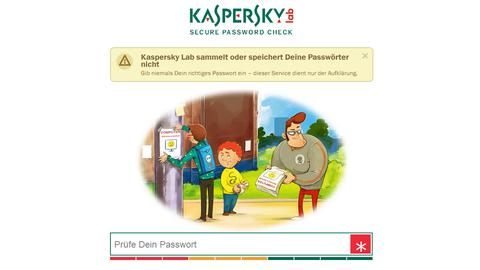 Kaspersky Passwortsicherheit