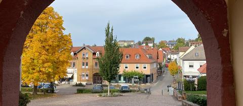 Ansicht Bad König vom Rathaus aus