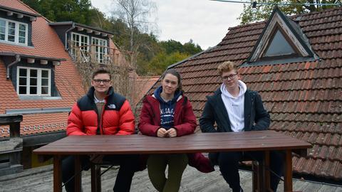 v.l.n.r.: Luca Lieber, Marie Kumpf, Ben Engelter