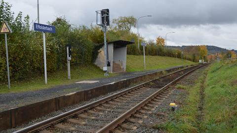 Bahngleis in Effolderbach