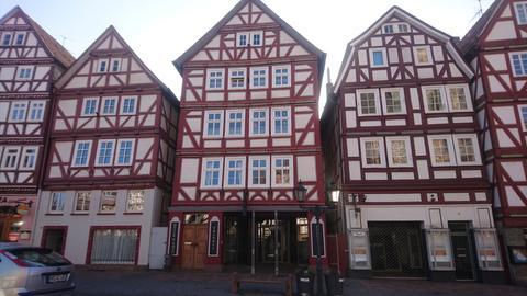 Ensemble von Fachwerkhäusern am Markt in Homberg/Efze