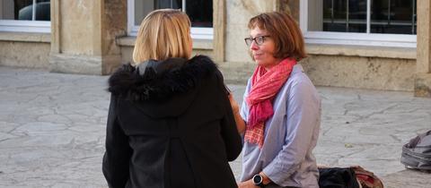 Petra Boberg mit Quereinsteigerin Verena A.