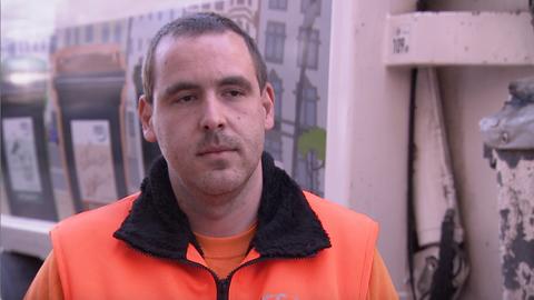 Müllwagenfahrer Martin Zenn