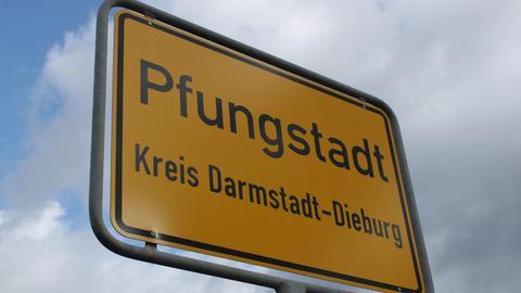 Pfungstadt Ortseingangsschild