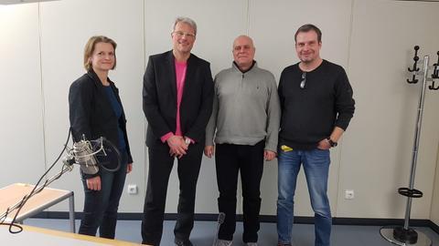 Politiksendung Redakteure: (v. l.) Erika Becker, Volker Siefert, Wolfgang Hettfleisch und Frank Angermund