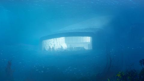 """Eindrücke des Unterwasser-Restaurants """"Under"""""""