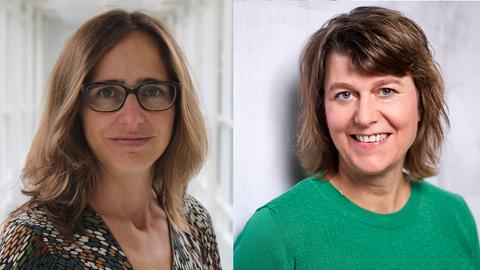 Die Autorinnen: Juliane Orth und Anne Baier (hr-iNFO-Politikredaktion)