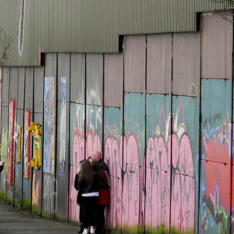 Mauer in Belfast