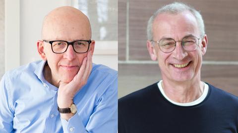 Soziologe Heinz Bude und hr-iNFO-Redakteur Jens Borchers