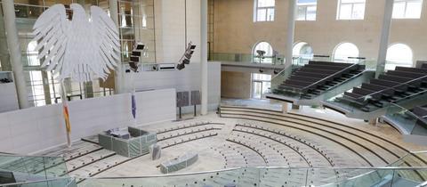 Leerer Bundestag