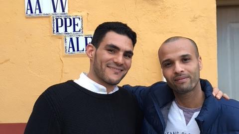 Mohamed Madani und Abdelkamil Mohamed vom Nachbarschaftsverein