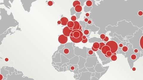 Weltkarte: Die Verbreitung des Coronavirus