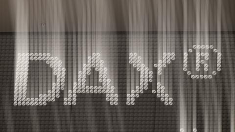 LED-Logo in Grau das DAX schreibt