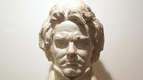 Eine Büste von Ludwig van Beethoven