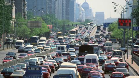 Verkehrsstau in Peking