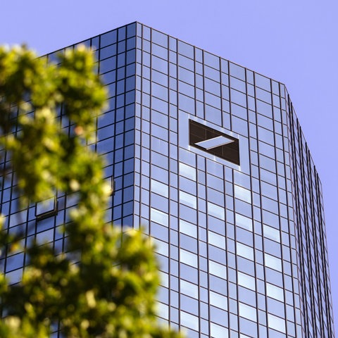 Der Deutsche-Bank-Tower in Frankfurt