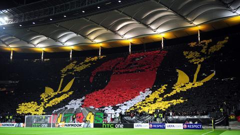 Eine Europa-Choreographie der Eintracht-Fans