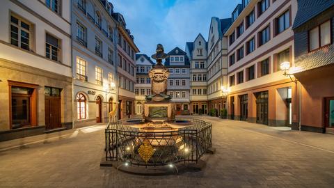 Der Hühnermarkt in der neuen Frankfurter Altstadt