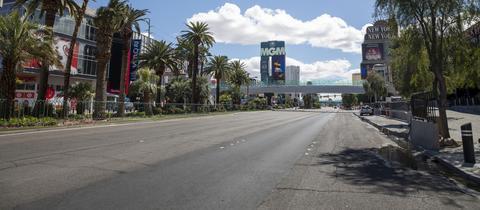 Der leere Las Vegas Boulevard