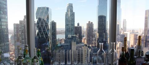 Der Blick aus einem Luxus-Turm in New York