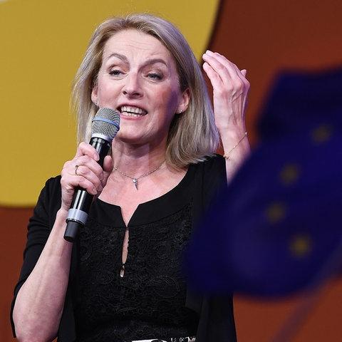 SPÖ-Kandidatin Evelyn Regner im Rahmen der EU-Wahl am Sonntag, 26. Mai 2019