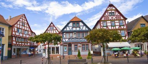 Der Marktplatz in Seligenstadt