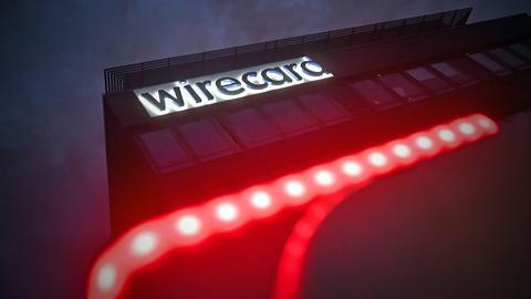 Der Firmensitz von Wirecard samt Logo