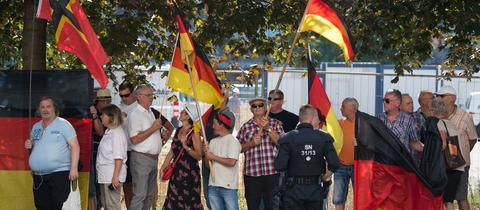 Pegida-Demonstranten in Dresden