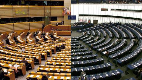 Das Europaparlament in Brüssel und Straßburg