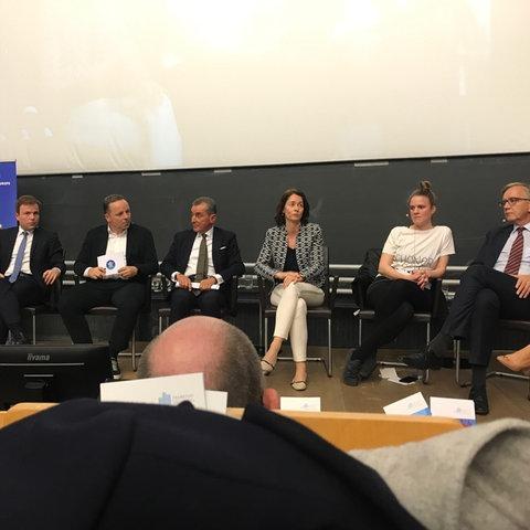 Podiumsteilnehmer bei der Veranstaltung zur Europawahl 2019