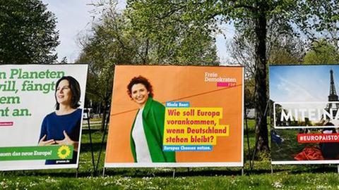 Europawahl Wahlplakate