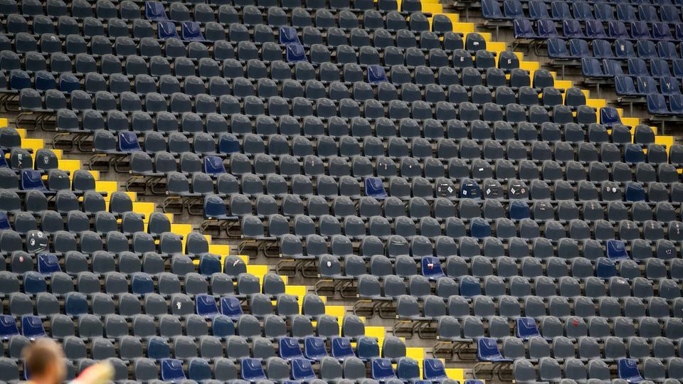 Leere Ränge in der Frankfurter Commerzbank-Arena