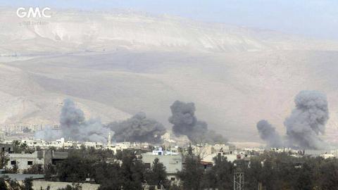 Rauchwolken über Ghouta