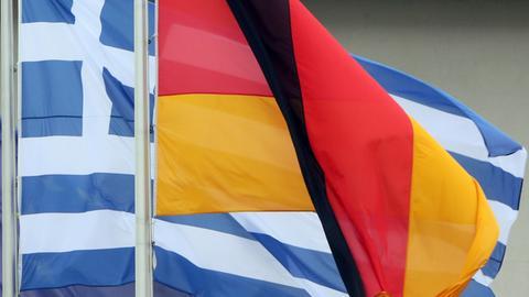 Flagge Griechenland Deutschland