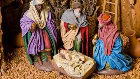 Weihnachtskrippe mit Königen
