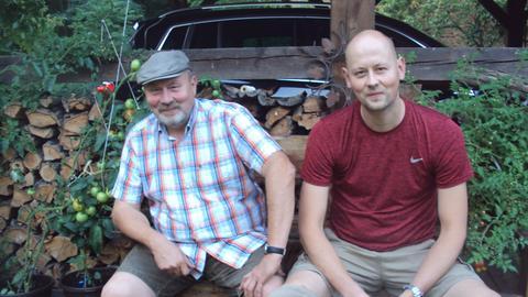Vater Andreas Rösel und Sohn Tom