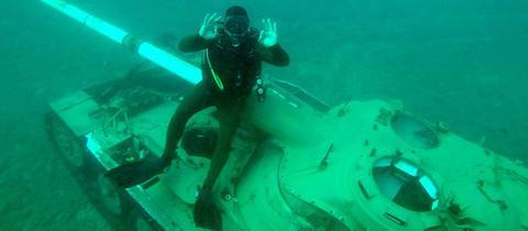 Panzer unter Wasser