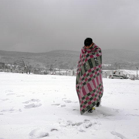 Aufnahmelager Lipa bei Bihac, Bosnien